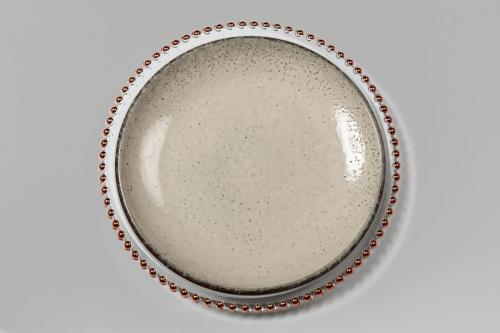 Beaded Charger with Stoneware