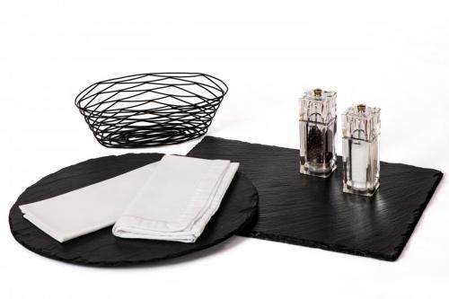 Locally Made Slates / Grey Wire Baskets